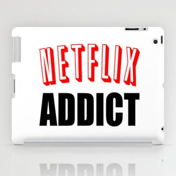 Netflix Addict iPad Case by Poppo Inc. | Society6