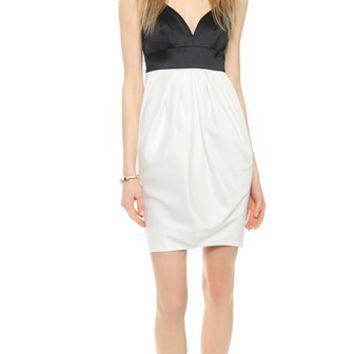 Jill Jill Stuart Two Tone Dress