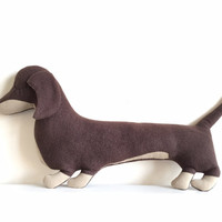Sausage dog cushion (Dachshund shaped pillow,soft toy)