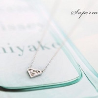 Extra Superman S Sign Necklace Clavicle Chain = 1645830916