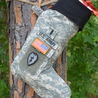 Stockings, US ARMY Military handmade, totally customizable military stockings!