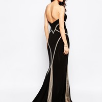 Forever Unique Bianca Sweetheart Maxi Dress with Sheer Embellished Panels