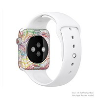 The Abstract Woven Color Pattern Full-Body Skin Set for the Apple Watch