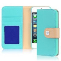 Amazon.com: CaseCrown Pathway Wallet Case (Cloud Blue) for Apple iPhone 5: Cell Phones & Accessories