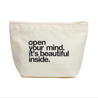 Open Your Mind Canvas Pouch