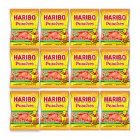 Haribo Peaches Gummi Candy, 5 oz (142 g) x 12