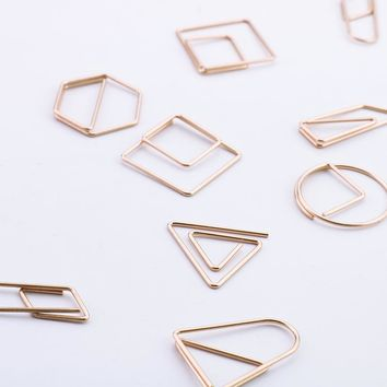 2017 new fashion rose gold paper clips metal office clip cute bookmarks handmade capitatum durable office bindling product H0087