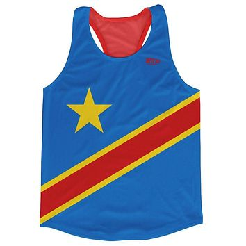 DR Congo Country Flag Running Tank Top Racerback Track and Cross Country Singlet Jersey