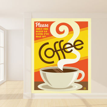 Anderson Design Group's Coffee First Mural wall decal