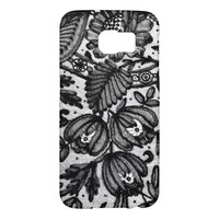 Elegant Black Lace Samsung Galaxy S6 Cases