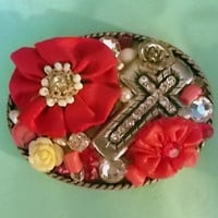 Shades of Pink Belt Buckle