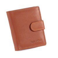 300952-CG Ladies Small Clutch Wallet in Tan Leather | Style n Craft