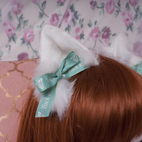 Tuck In - Realistic kitten play ears / alternative fur colour options / customisation available / wired