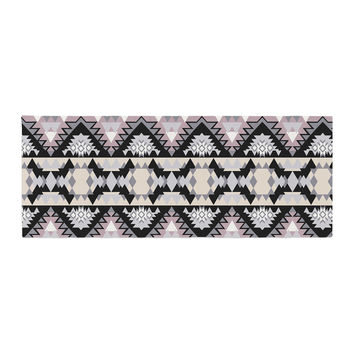 "Victoria Krupp ""Nordic Ice"" Black Pastel Digital Bed Runner"