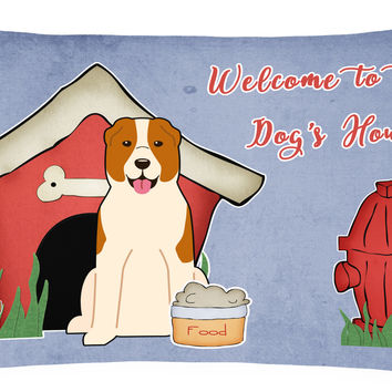 Dog House Collection Central Asian Shepherd Dog Canvas Fabric Decorative Pillow BB2803PW1216