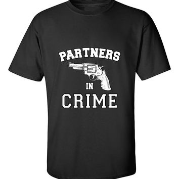 Partners in Crime right Couples Valentine's Day Gift T-Shirt