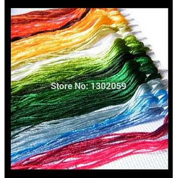Total 50 pieces Silk Thread Floss / Embroidery Cross Stitch Silk Thread Floss // You Can Choose Any Colors And Quantity