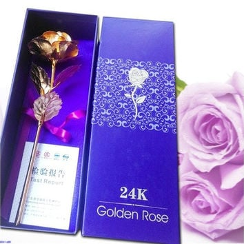 24k Golden Rose Lover's Flower Creative Mother's Day /Valentine's Day /Birthday / Wedding Gift (US/UK in Stock) [7981212679]