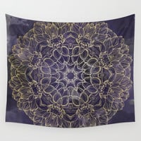 Watercolor Mandala Wall Tapestry by All Is One