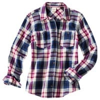 Mossimo Supply Co. Juniors Flannel Top - Assorted Colors