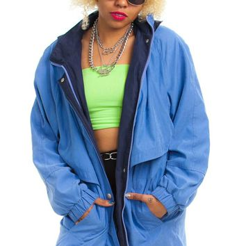 Vintage 90's Cornflower Hooded Jacket - One Size Fits Many