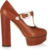 Charlotte Olympia | Ryder leather Mary Jane platform pumps | NET-A-PORTER.COM