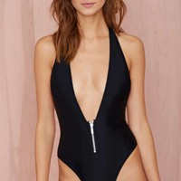 Nasty Gal Deep End Swimsuit