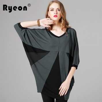 Top Blouse 2018 Summer Women Autumn Spring V-neck Casual Chiffon Knitted Blouse Half Sleeve Loose Female Boho Tunic Women Blouse