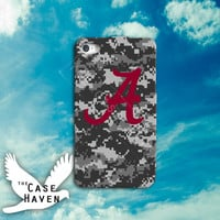 Camo Alabama Roll Tide Roll desert Custom iPhone Case for iPhone 4 and 4s and iPhone 5 and 5s and 5c Case