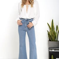 Rollas Eastcoast Light Wash Flare Jeans