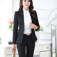 Pantsuits Professional Business Women Suits with Jackets And Pants Plus Size 4XL