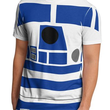 Blue and White Robot AOP Men's Sub Tee Single Side All Over Print