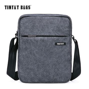 Men's Crossbody Bag Multifunctional Men Casual Bag Quality Male Shoulder Messenger Bags Canvas Leather Handbag