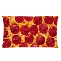 Food Pillow Case - Popular 20x36 inch One Side Pizza Rectangle Pillowcase