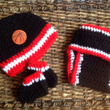Chicago Bulls Basketball Crochet Baby Gift Set