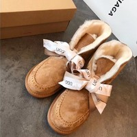 UGG Bow tie snow boots-3
