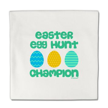"""Easter Egg Hunt Champion - Blue and Green Micro Fleece 14""""x14"""" Pillow Sham by TooLoud"""