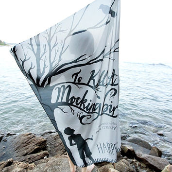 To Kill a Mockingbird Book Scarf - Gray