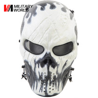 Durable ABS+ Metal Full Face Mask Mesh Eye Protector Paintball Mask for Airsoft Tactical Sport