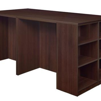 Legacy Stand Up 2 Desk/ Storage Cabinet/ Lateral File Quad with Bookcase End- Java