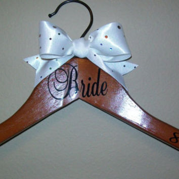 Personalized Wedding Hanger for Bride, Groom, Bridesmaid, Groomsman, Flower Girl or Ring Bearer
