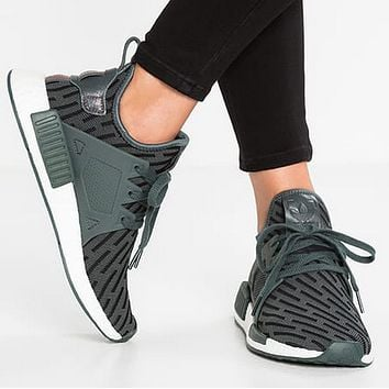 Adidas  NMD XR1 BOOST PRIMEKNIT White green running shoes