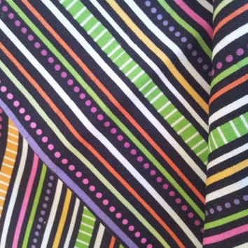 Riley Blake Quilting Cotton Fabric FQ. Trick and Treat Stripes.