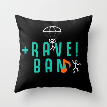 RAVE / TRAVEL Throw Pillow by PLX.ART