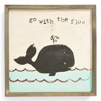 Natural Life 'Go with the Flow - Bungalow' Wooden Wall Art