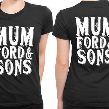 DCCKG72 Mumford And Sons Title Large 2 Sided Womens T Shirt