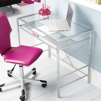 Mainstays Glass-Top Desk and Desk Chair Value Bundle, Multiple Colors - Walmart.com