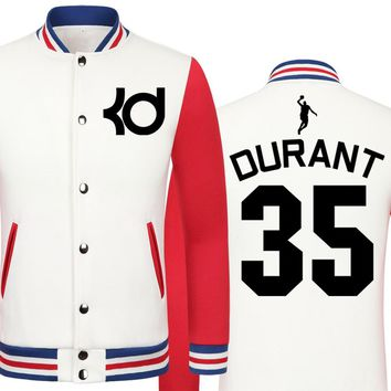 Warriors Kevin Durant jacket printing big size men clothing men jacket models college jacket boys