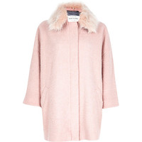 River Island Womens Light pink oversized coat