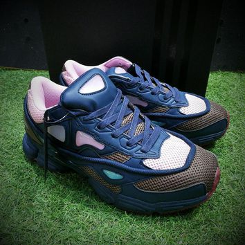 Raf Simons x Adidas Consortium Ozweego 2 Night Marine 2018 Women Men Casual Trending Running Sneakers